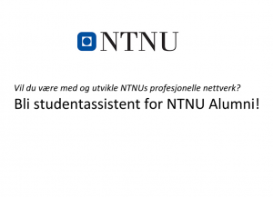 Studentassistenter NTNU Alumni 2016 logo